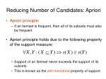 reducing number of candidates apriori