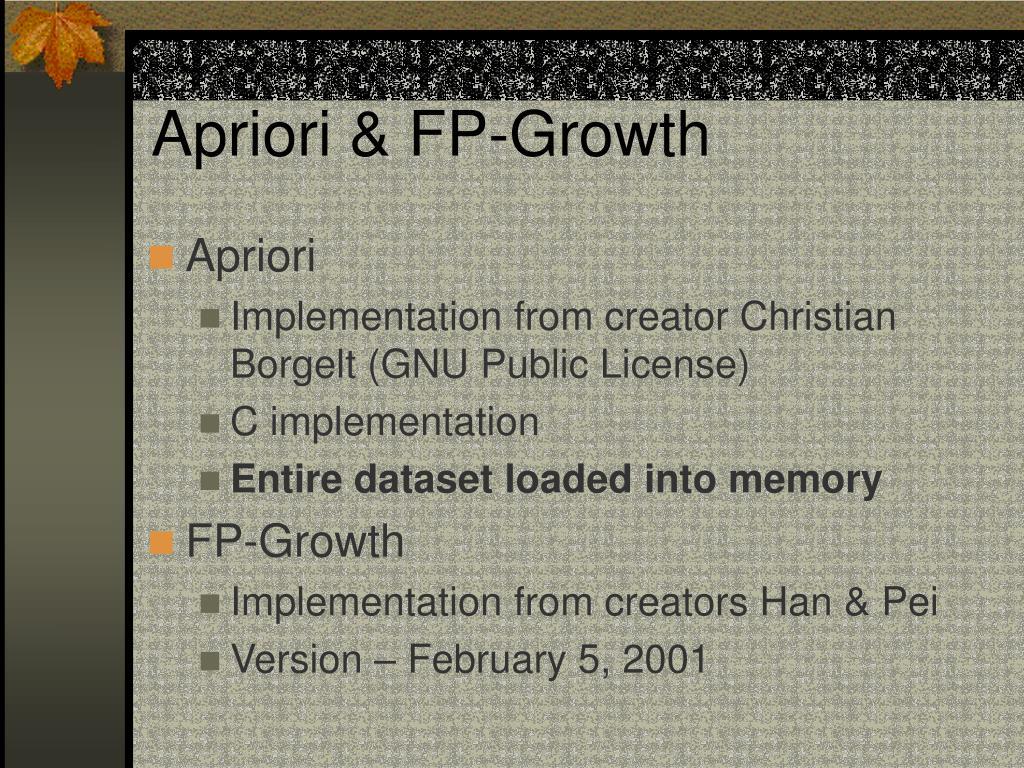 Apriori & FP-Growth