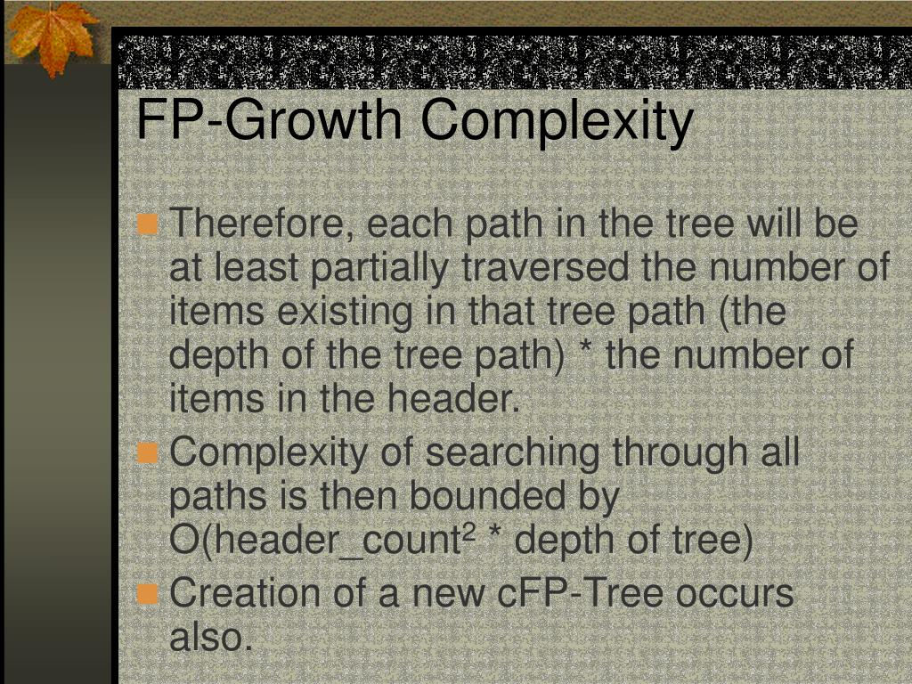 FP-Growth Complexity