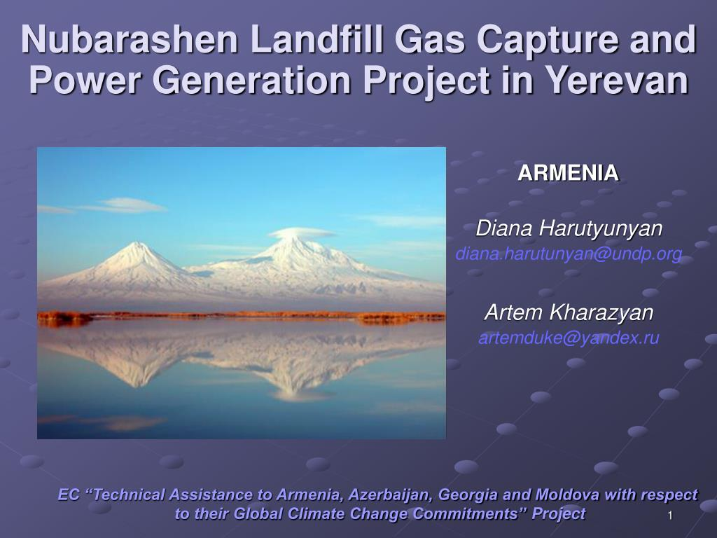 nubarashen landfill gas capture and power generation project in yerevan l.