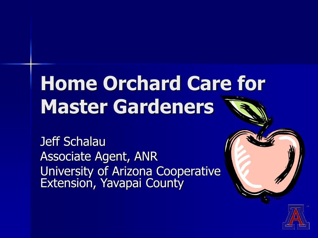 home orchard care for master gardeners l.