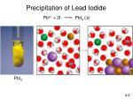 precipitation of lead iodide