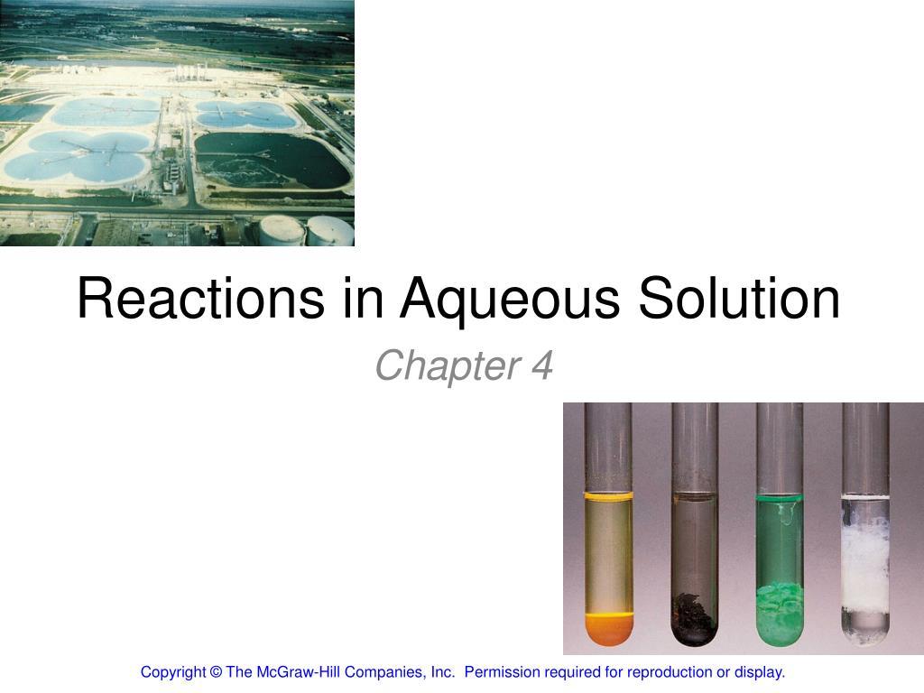 reactions in aqueous solution l.
