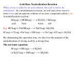 acid base neutralization reaction