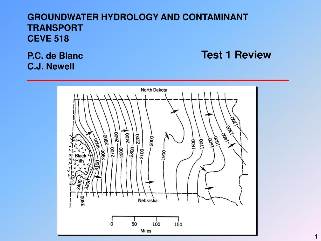 groundwater hydrology and contaminant transport ceve 518 p c de blanc c j newell l.