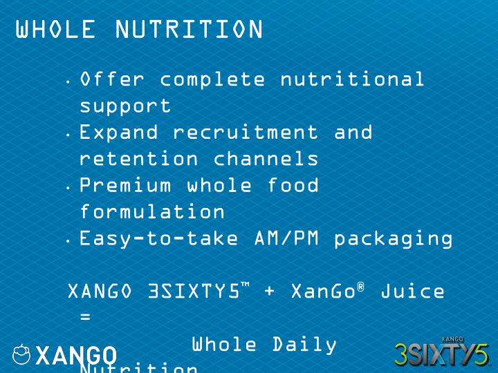 WHOLE NUTRITION