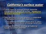 california s surface water