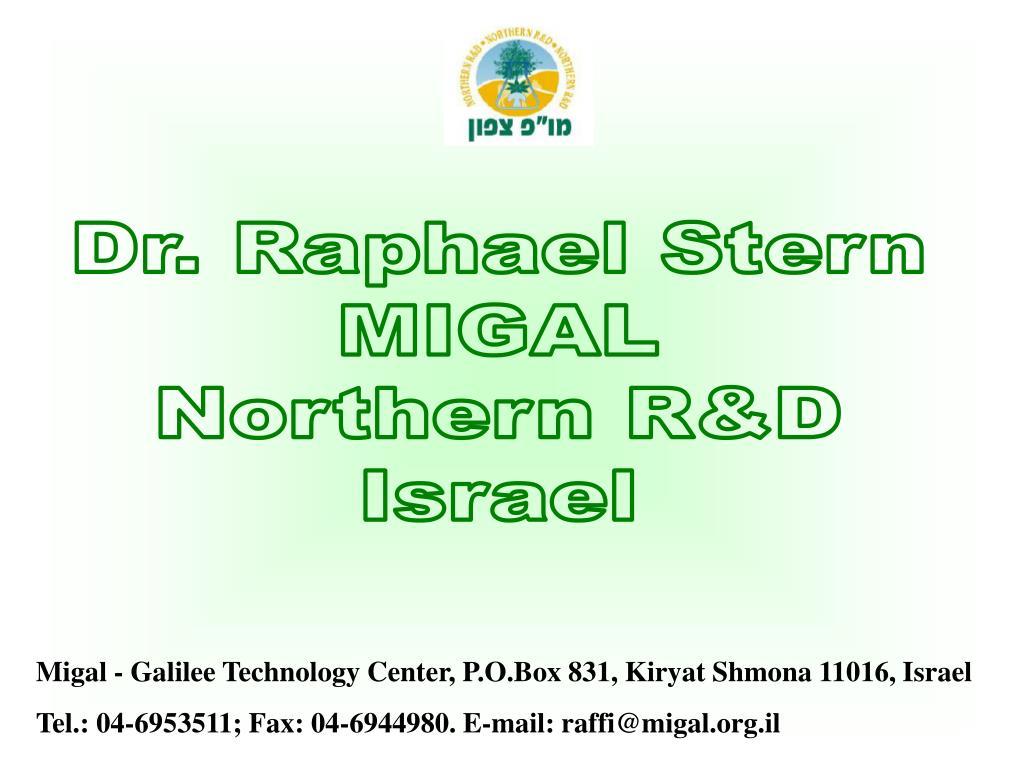 Dr. Raphael Stern