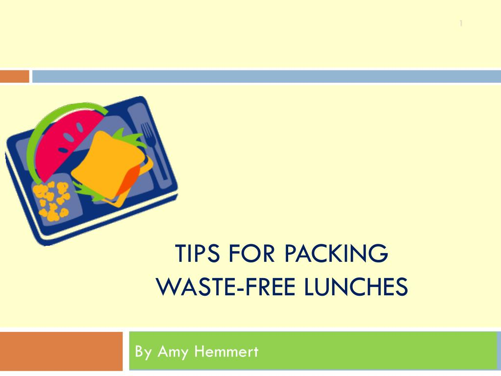 tips for packing waste free lunches