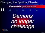 favorable spiritual climate22