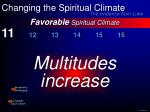 favorable spiritual climate23