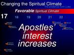 favorable spiritual climate28