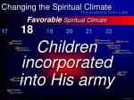 favorable spiritual climate29