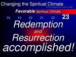 favorable spiritual climate37