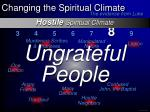 hostile spiritual climate17