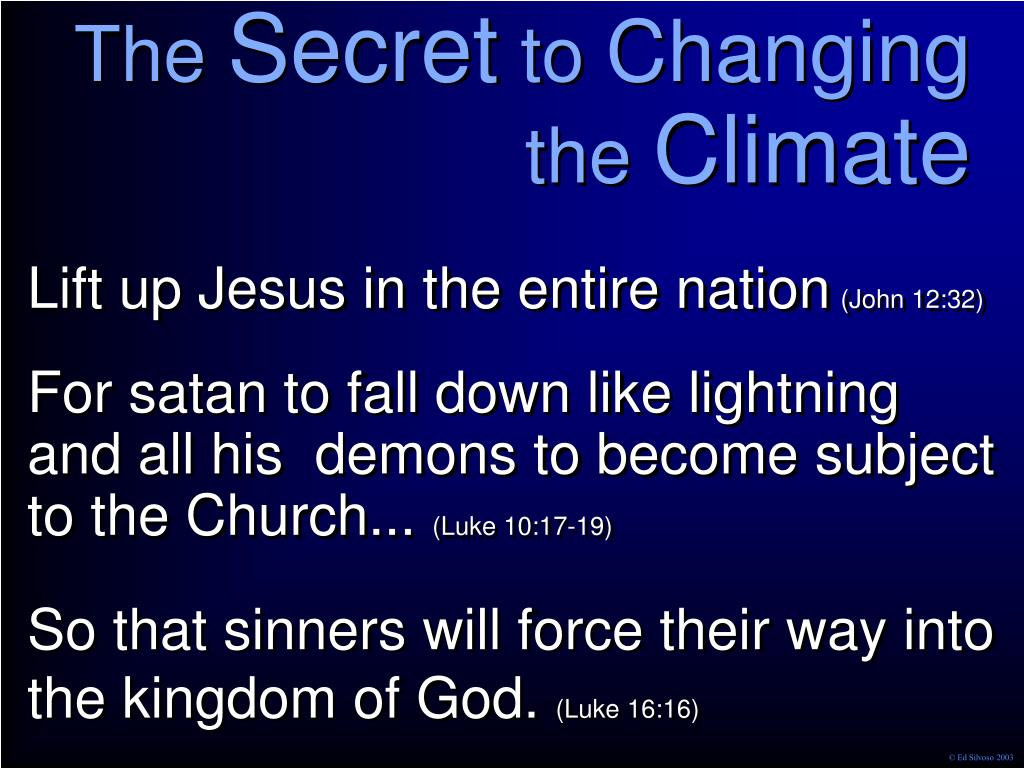Lift up Jesus in the entire nation