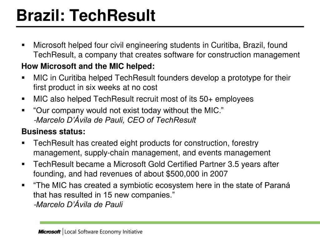 Brazil: TechResult