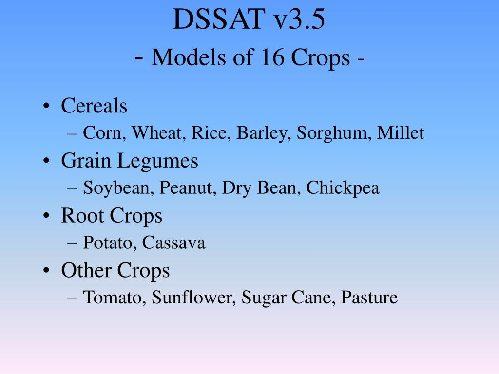 DSSAT v3.5