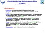 condition based maintenance plus cbm46