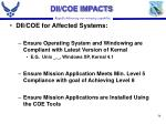 dii coe impacts