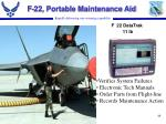f 22 portable maintenance aid