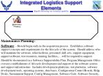 integrated logistics support elements11