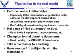 tips to live in the real world