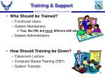training support