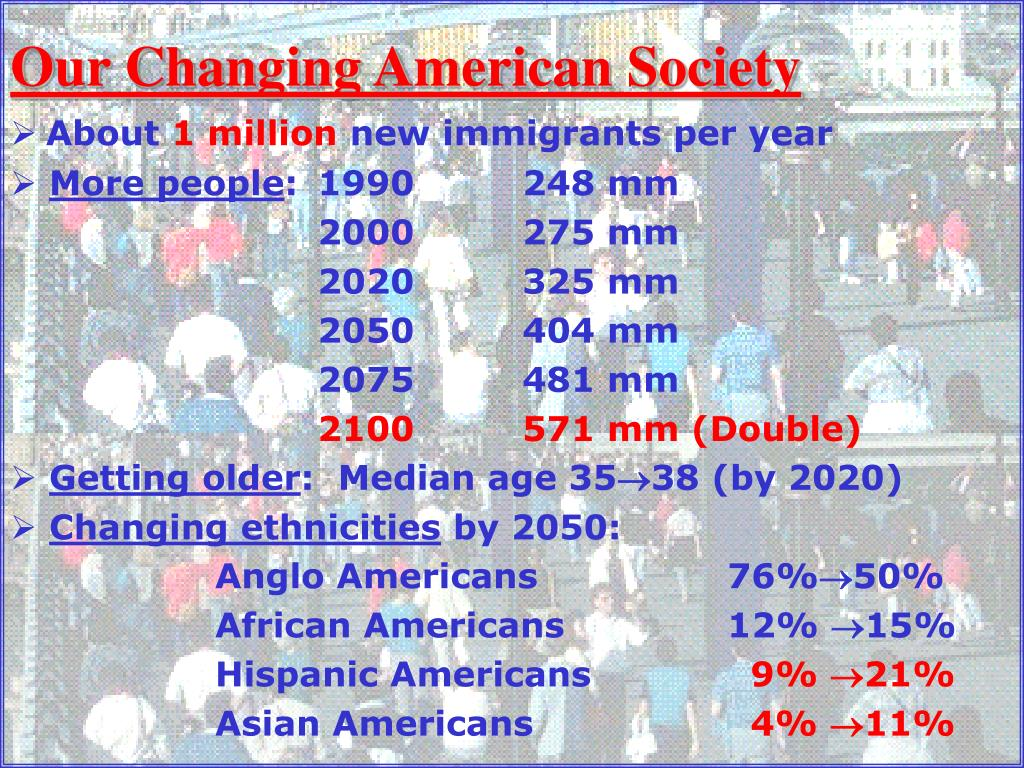 Our Changing American Society