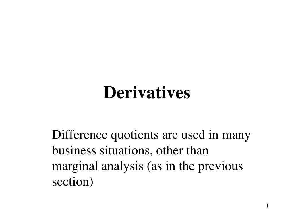 derivatives l.