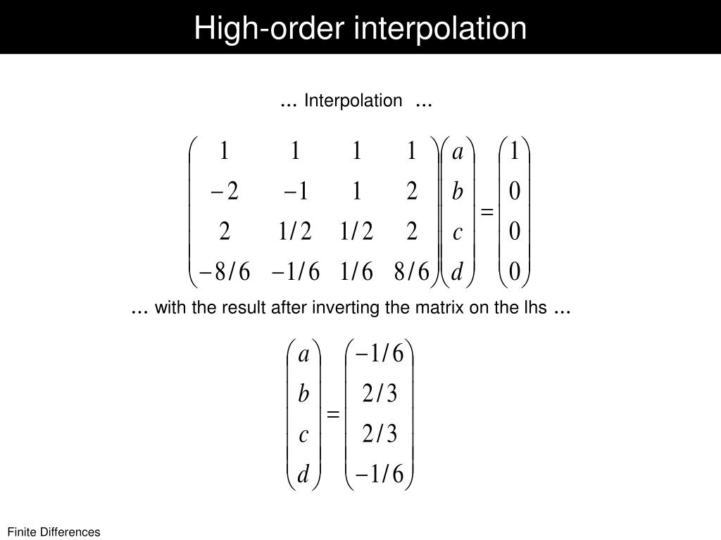 PPT - Finite Difference Approximations PowerPoint