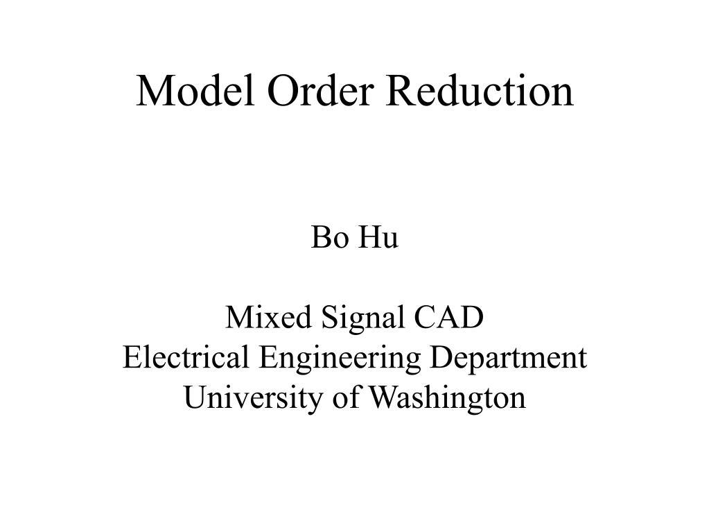 model order reduction l.
