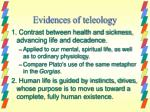 evidences of teleology