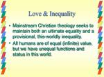 love inequality