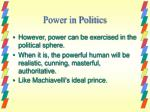 power in politics