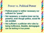 power vs political power
