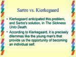 sartre vs kierkegaard