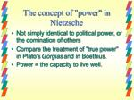 the concept of power in nietzsche