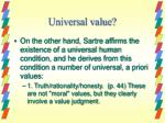 universal value