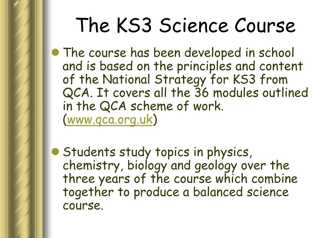 The KS3 Science Course