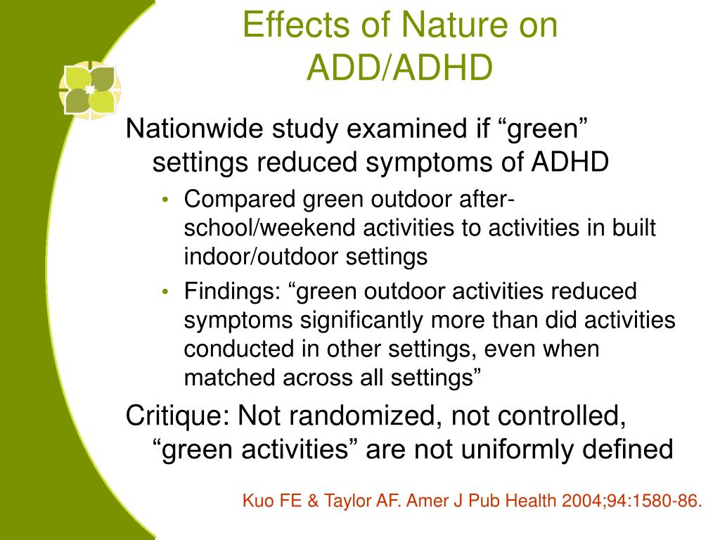 Effects of Nature on