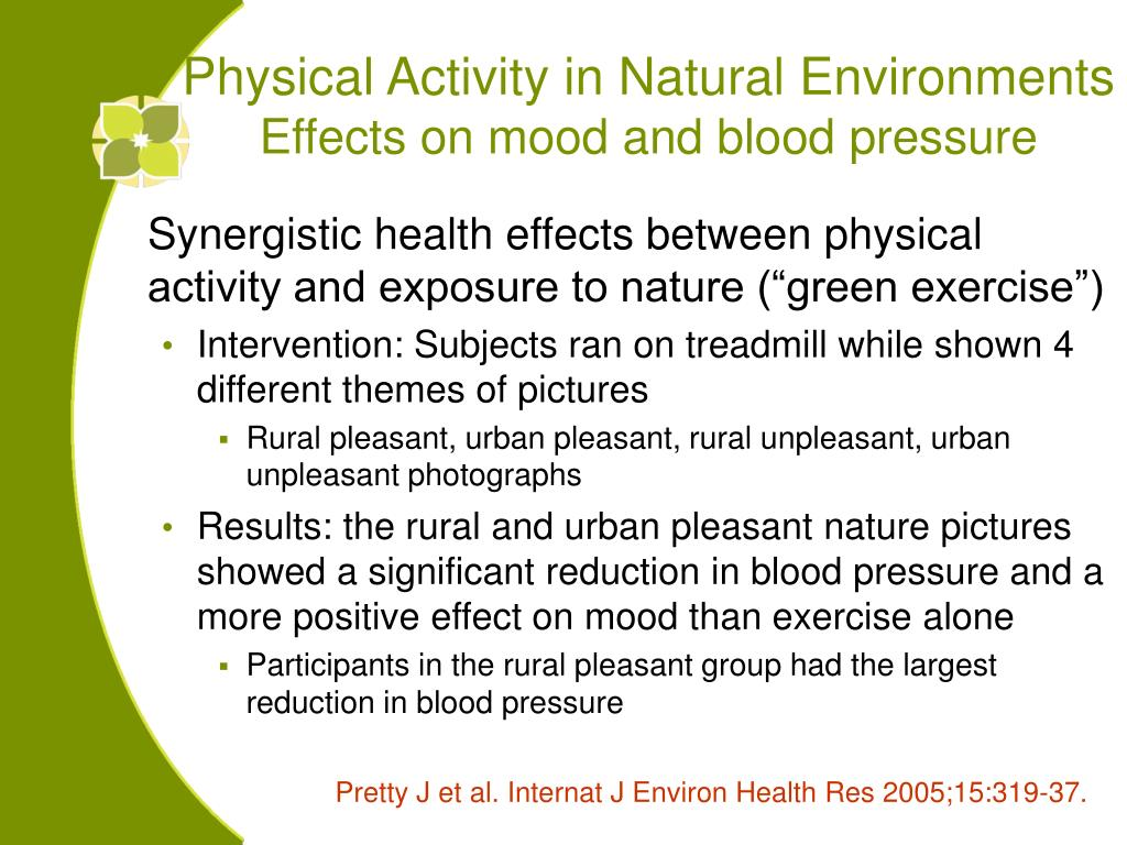 Physical Activity in Natural Environments