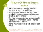 reduce childhood stress results