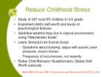 reduce childhood stress