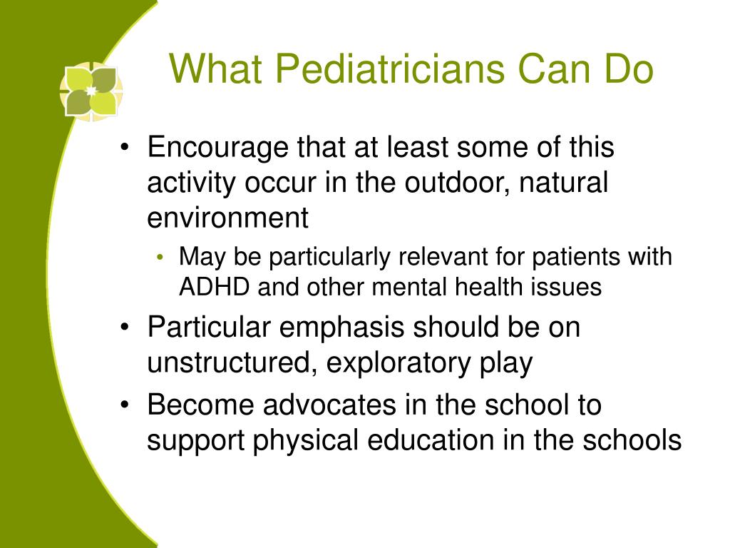 What Pediatricians Can Do