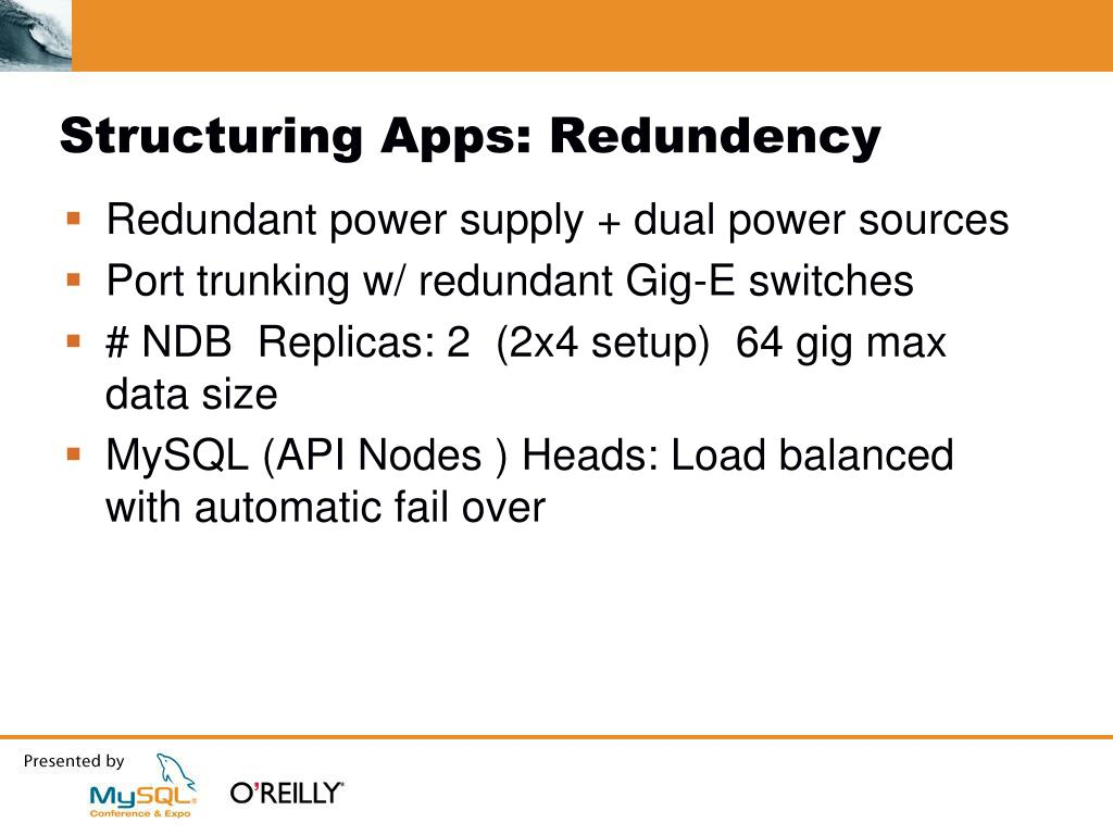 Structuring Apps: Redundency