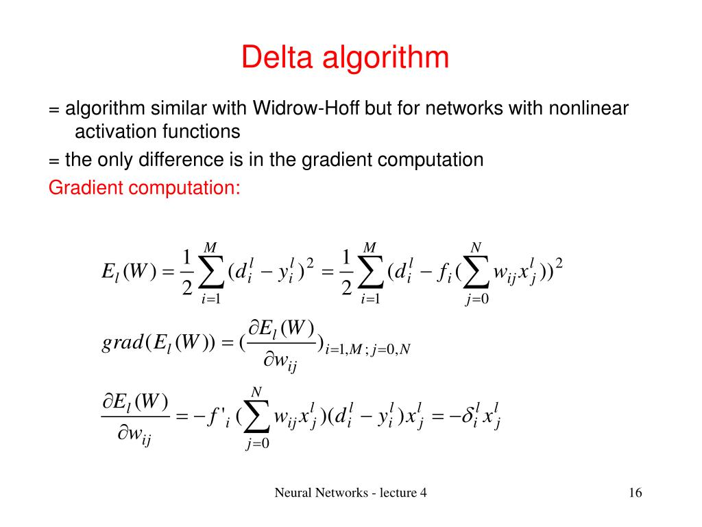 Delta algorithm