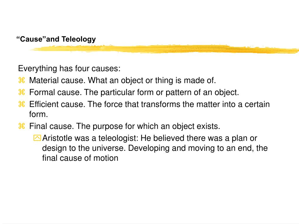 """""""Cause""""and Teleology"""
