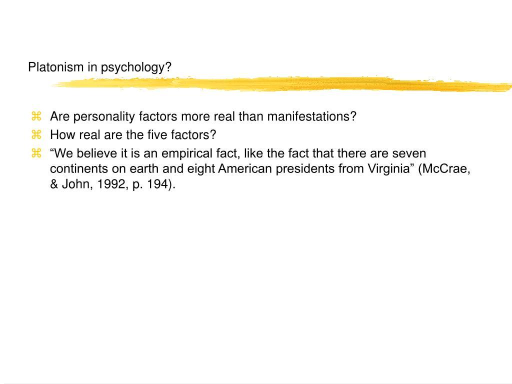 Platonism in psychology?