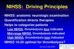 nihss driving principles